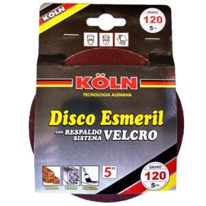 DISCO ABRASIVO C/ VELCRO 5′ grano 120 Koln blister x 5