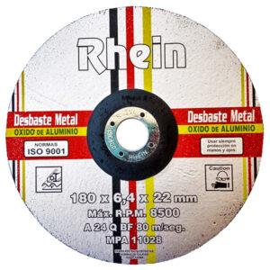 DISCO DESBASTE C/DEP. OX. ALUM. Rhein 7′ 180 x 6.4 x 22 5 Unid