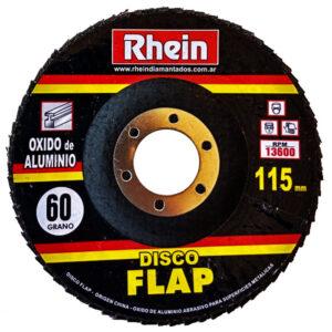 DISCO FLAP OXIDO ALUMINIO Rhein 4.5′ 115 grano   60 10 unid