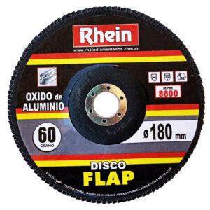 DISCO FLAP OXIDO ALUMINIO Rhein 7′ 180 grano   60 5 unid