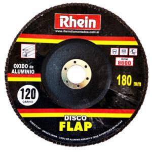 DISCO FLAP OXIDO ALUMINIO Rhein 7′ 180 grano 120 5 unid