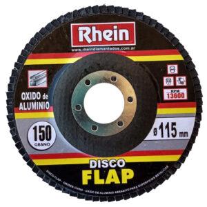 DISCO FLAP OXIDO ALUMINIO Rhein 4.5′ 115 grano 150 10 unid