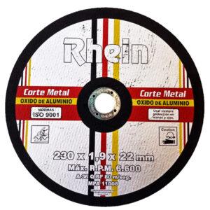 DISCO PLANO OXIDO ALUMINIO Rhein 9» 230 x 1.90 5 unid
