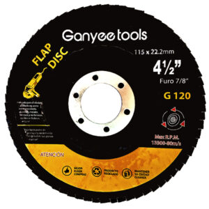 DISCO FLAP OXIDO ALUMINIO 41/2 x 120 Ganyee tools unid