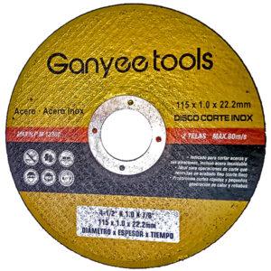 DISCO PLANO OXIDO ALUMINIO 115 x 1 Ganyee tools unid