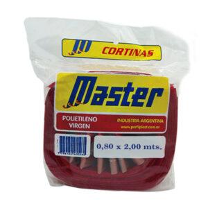 CORTINA ANTIM. MASTER SUPER 0.80 x 2 m rojo 36 unid