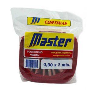 CORTINA ANTIM. MASTER SUPER 0.90 x 2 m rojo 36 unid