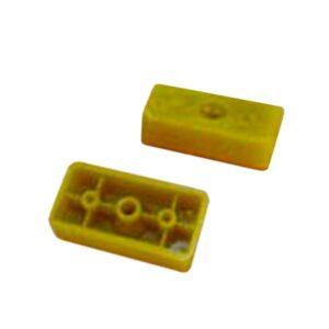 TACO P/ SOP. CORTINA rectangular plast. 100 unid