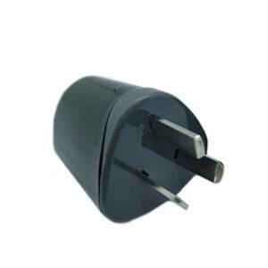 FICHA MACHO 3 ESPINAS planas negra y gris Indelplast 50 unid