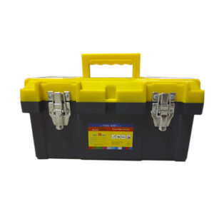 CAJA PLASTICA CIERRE METAL. amarilla N° 15 Import. unid