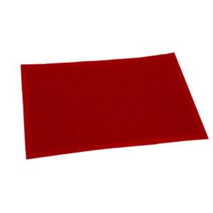 FELPUDO PLASTICO 40 x 60 rojo 12 unid