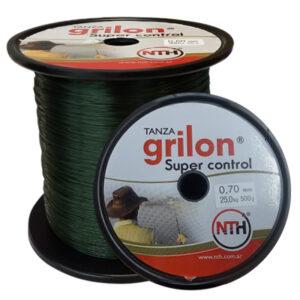 TANZA PES. Grilon SUP. CONT. 1/2 kg 0.50 mm verde laguna rollo x 1/2 kg